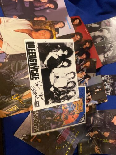 QUEENSRYCHE LOT SIGNED Comic. EMI Records press photo and more