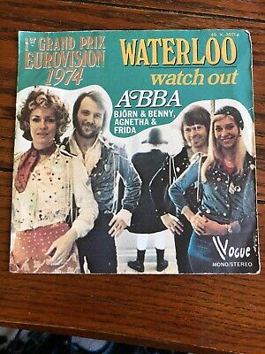 ABBA Waterloo / Watch Out French 45 W/ Picture Sleeve 1974