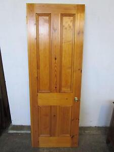 D5072 Baltic Pine Door w/ Brass Handle Hinges Mount Barker Mount Barker Area Preview