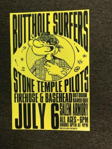 "Stone Temple Pilots Butthole Surfers 1993 Cardstock Concert Poster - 12"" x 18"""