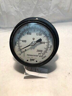 Marshalltown Permagage 2000 Psi 177 Industrial Pressure Gauge Steam Punk Craft