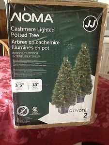 2 boxes of never used indoor/outdoor cashmere potted trees.  Kingston Kingston Area image 2