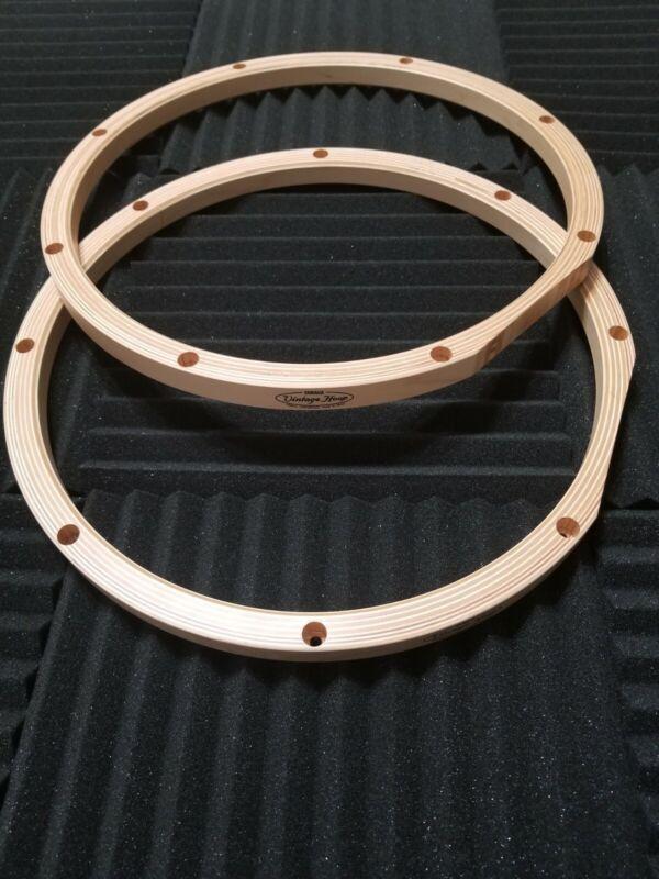 "Yamaha Vintage Wood Hoops 14"" 8 Hole (Pair) - mint! Still in plastic!!!"