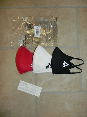 adidas Face Mask CVR small weiß schwarz rot 3er Pack Set NEU Mundschutz Maske