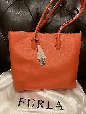 Furla Handbags Large Shopper Tote Bag Leather 728791 $348 NWT Made In Italy