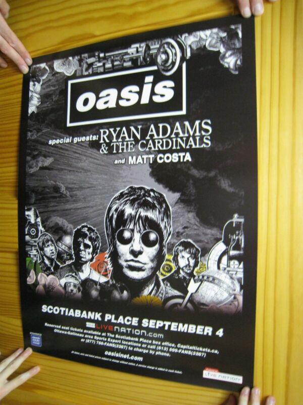 Oasis Poster Ryan Adams & The Cardinals Matt Costa Face Band Shot Drawing Tour