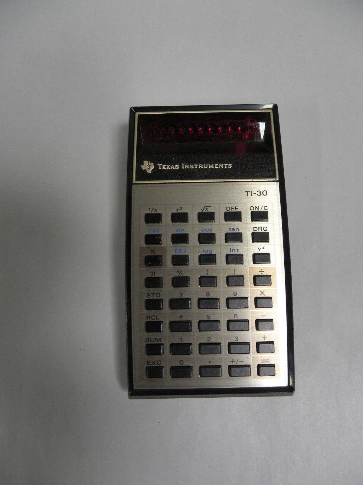 Vintage Texas Instruments Ti-30 Electronic Calculator (A5)