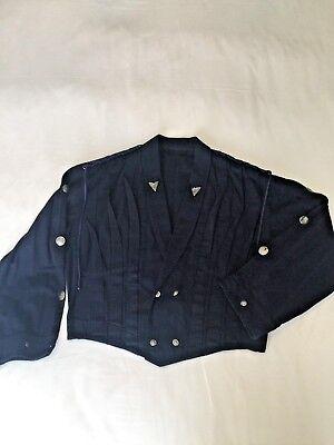 Kansai Yamamoto Jacket ,unisex,WESTERN INDIGO PLEATS