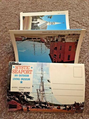 1973 Mystic Connecticut Mystic Seaport Postcard Photo Book - Jos. Conrad UNUSED