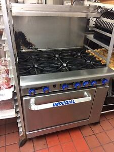 Imperial industrial six burner oven gas