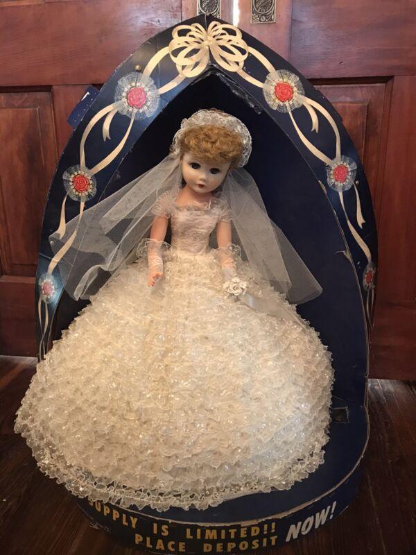 Vntg 1959 Deluxe Premium Bonnie Bride Doll W Store Display Wedding Gown