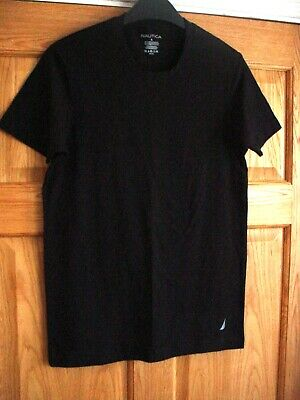 NAUTICA T-Shirt 100% Cotton Black SZ S  BNWT