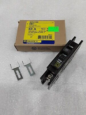 Qou160 Square D 1pole 60amp 120v Circuit Breaker New