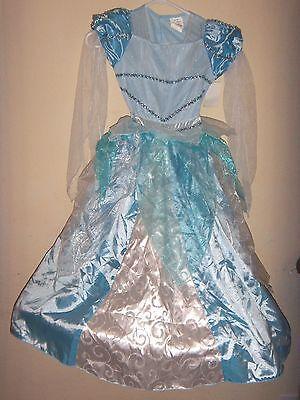girls medium NEW NWT STORYBOOK PRINCESS HALLOWEEN COSTUME DRESS blue sparkle @@](Storybook Costumes For Girls)