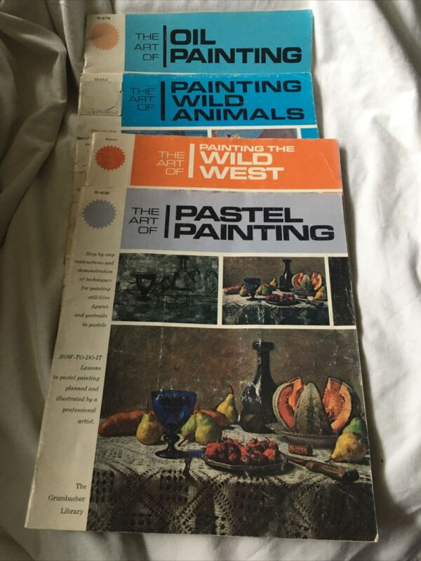 Lot of 4 Art Books Walter T. Foster Grumbacher Library Oil Painting Perspective