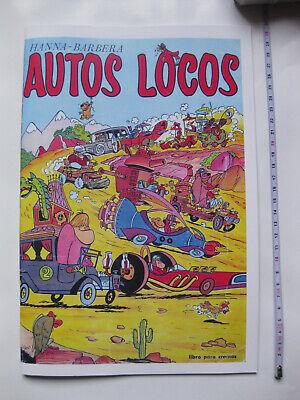ALBUM CROMOS FACSIMIL AUTOS LOCOS FHER 1972 SPANISH WACKY RACES STICKER ALBUM