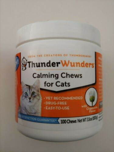 ThunderWunders Cat Calming Chews for Cats 100 Chews