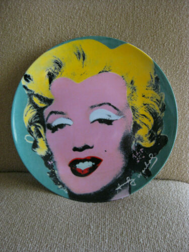 """Limited Ed. 10 1/2"""" Plate ANDY WARHOL"""
