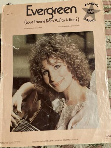 Evergreen A Star Is Born . Streisand/Williams. Sheet Music - $3.00
