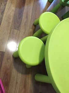 Kids table and 4 stools IKEA Hornsby Hornsby Area Preview