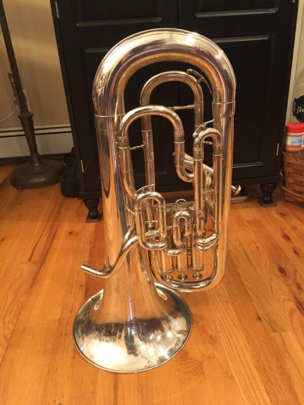 Meinl Weston 451S Compensating Euphonium Silver W/ & Besson Hard Case