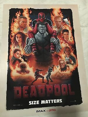 8 Deadpool  Movie Posters Exclusive to AMC IMAX 9.5x13