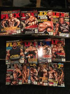 Lot of 14 Flex Bodybuilding magazines
