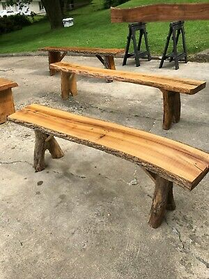 Rustic benches for indoor or outdoor use, great for patio, firepit seating Rustic Wood Benches