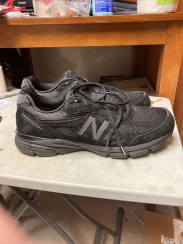 New Balance Men's Made in US 990v4 Shoes Black Size 16 Made