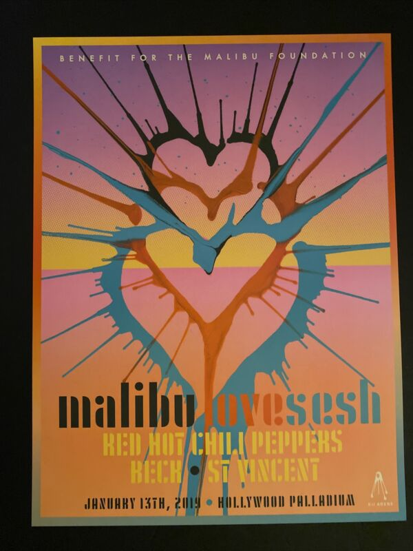 RED HOT CHILI PEPPERS palladium MALIBU LOVE SESH 2019 Beck St Vincent Kii Arens