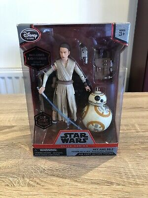 DISNEY STAR WARS ELITE SERIES REY AND BB-8 DIE-CAST ACTION FIGURE RARE