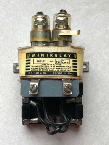 Contactor Mercury  2NO Clare MR-11  10amp  120vac Coil