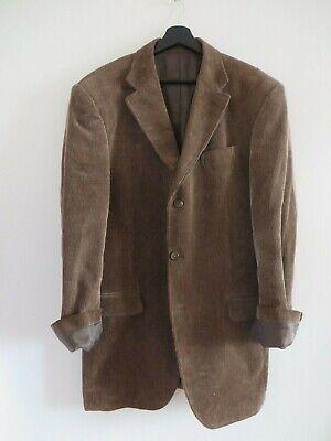 Velvet corduroy long jacket blazer winter brown