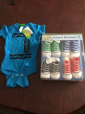 Crayola Baby Socks And Blue One Piece - Crayola Baby