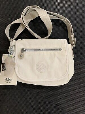 Kipling Sabian Alabaster White Crossbody Mini Bag purse tote bag  NWT AC8280 $49