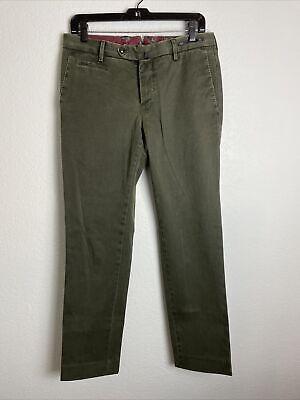 Mens PT01 Dress Pants x Sid Mashburn   46 (31W/30L)   Olive Green   Super Slim