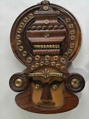 Aztec Or African Wooden Metal Wall Art Carved Handmade Free shipping UK