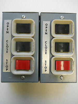 Lot Of Two Open-close-stop Electrical Control Switches