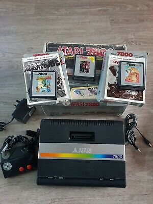 Atari 7800 Console Boxed with games