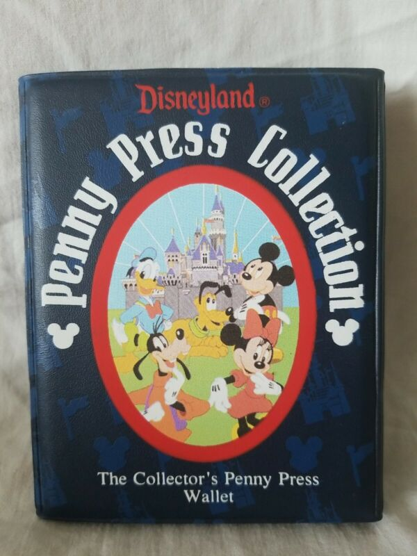 Penny Pressed Coin Collection Book Disneyland 34 Pennies and 7 quarters Disney