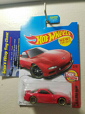 Hot Wheels 2017 Kmart Excl. THEN AND NOW '95 Mazda RX-7 Red 3/10 B18