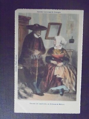 Herr Frankreich Kostüm (CPSM antike Kostüme von Bretagne Herren Landivisiau und Handwerker von Morlaix)