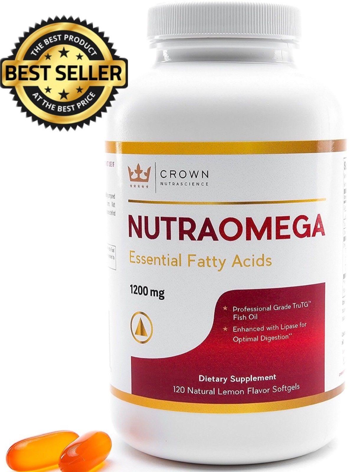 Omega 3 Triglyceride Fish Oil 1200mg NutraOmega Essential Fa