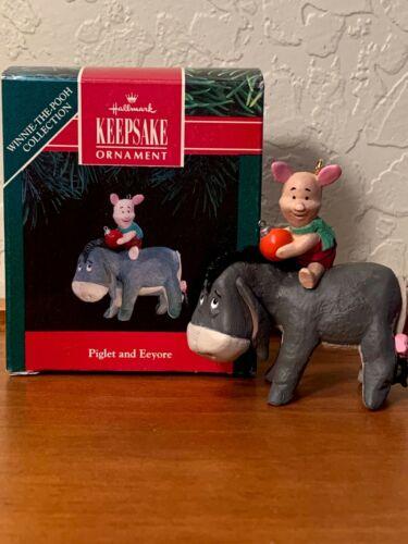 1991 Hallmark Keepsake Ornament PIGLET AND EEYORE Winnie The Pooh Collection NIB