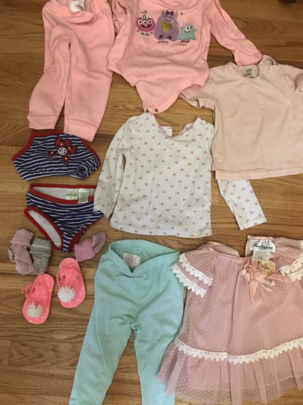 Baby Girl Clothes Mixed Lot 9 12 18 Months Fall Winter Summer