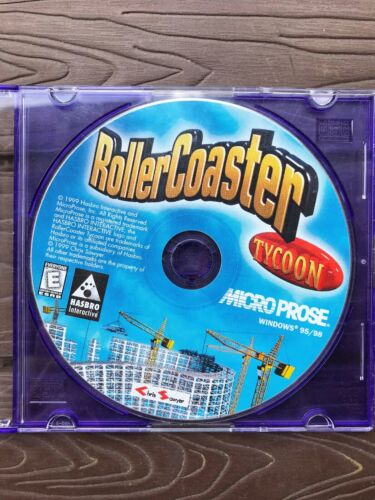 Computer Games - RollerCoaster Tycoon 1 One Original (PC, 1999) Windows Computer Game Disc Only