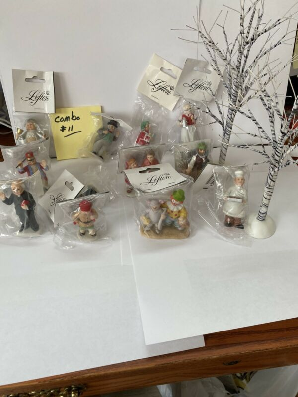lefton colonial village Combo#11 (13 figurines & 2trees)