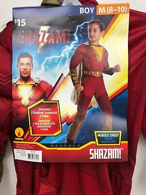 Halloween Dress Up For Boys (Halloween Hero  Dress Up Outfit Shazam Muscle Chest Boys  Costume Size M 8-10)