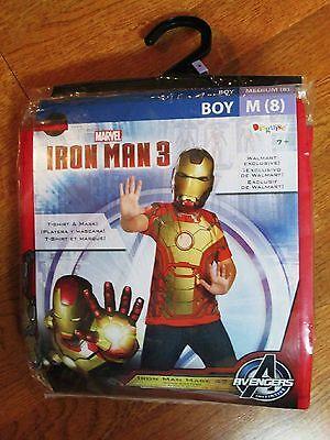 DISGUISE CHILD BOYS IRON MAN 3 MARK 42 COSTUME SZ 8 MED AVENGERS SUPER HERO NEW](Iron Man 3 Kids Costume)