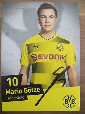 Handsignierte Autogrammkarte *MARIO GÖTZE* Borussia Dortmund BVB 17/18 2017/2018